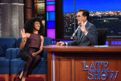 Sonequa Martin-Green - The Late Show with Stephen Colbert: September 6th 2017