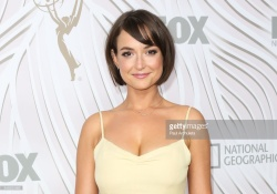Milana Vayntrub at the Emmy Awards After Party in Los Angeles - 9/17/17