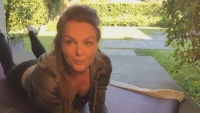 Dina Meyer - Periscope video 8.10.2017 (sports bra)