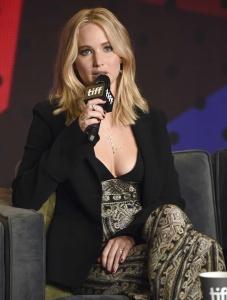 Jennifer Lawrence at TIFF Press Conference of 24
