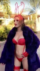 Bella Thorne in Red Lingerie - 10/15/17
