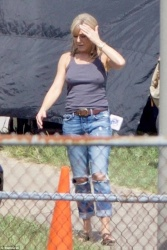 Jennifer Aniston on the set of Dumplin' in Marietta, Georgia - 9/22/17
