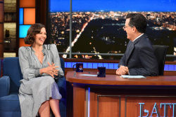Maggie Gyllenhaal - The Late Show with Stephen Colbert: September 5th 2017