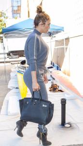 Jennifer Lopez - In Grey Sweats Out In NYC (10/19/17)