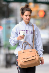 Katie Holmes - Leaving Starbucks in NYC 9/30/17